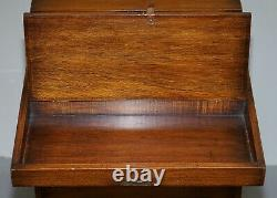 1 Of 2 Harrods London Kennedy Chest Of Drawers Green Leather Writing Slope Desk