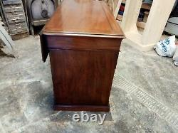 Antique 19th century mahogany ships desk. Chest of drawers, storage
