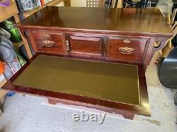 Antique Arts & Craft Mahogany Chest with Six Drawers, Letter store, Writing Desk