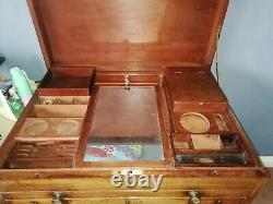 Antique Campaign Chest & Drawers, Desk, Victorian / Georgian Officers Military