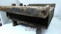 Antique Chinese Travelling Desk Writing Box Calligraphy Tool Drawer Wooden Chest