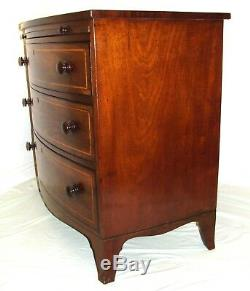 Antique GEORGIAN Inlaid Mahogany Bachelors Chest / Chest of Drawers / Desk