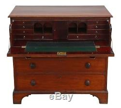Antique Georgian mahogany secretaire desk writing table chest of drawers 4852