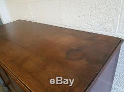 Antique Oak Chest of Draws with Writing Bureau Desk Wooden Drawers