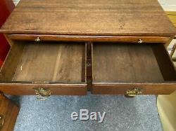 Antique Oak Georgian Victorian Vintage Chest Drawers Pull Out Writing Desk Top