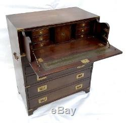 Antique Style Mahogany Secretaire Campaign Chest of Drawers BEVAN FUNNELL Desk