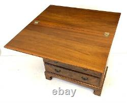 Antique Walnut Bachelors Chest / Chest of Drawers / Desk