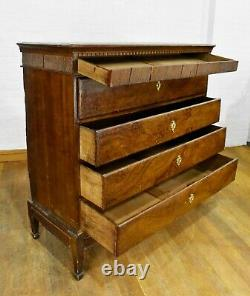 Antique very large rustic continental secretaire bureau chest of drawers
