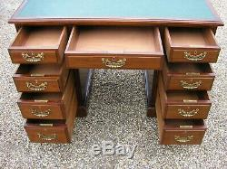 Antique victorian/edwardian mahogany desk. Chest of drawers, maple and co, quality