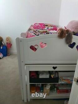 Argos Home Mia Ultimate Mid Sleeper Bed Frame + Desk + Bookcase + Chest White