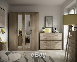 Assembled Medina Oak Wardrobe Chest of Drawers Bedside Dressing Table Twin Chest