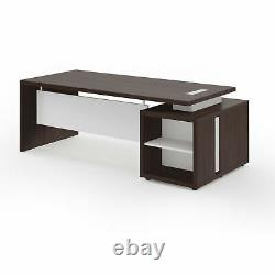 BRERA Desk L. 190.6xD. 99.2xH. 73.5 cm on chest of drawers in wenge' colour