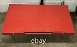 BelAir Lacquered 4 Drawer Chest of Drawer & Desk Set, Red 140121-08/-09