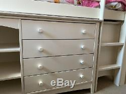 Cabin Bed With Desk, Small Chest Of Drawers And Mini Wadrobe