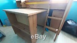 Cabin Bed with desk, bookshelf & chest of drawers