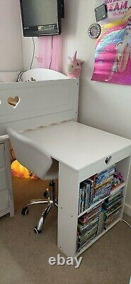 Cabin bed mid sleeper with desk. Chest Of Drawers And Bookcase