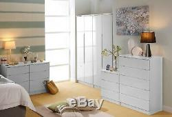 Charleston White Wardrobe Drawers Set Fully Ready Assembled Bedroom Furniture