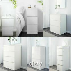 Chest Of 2 3 4 6 Drawers, Dressing Table, Bed Side, Home Drawer, Desk WHITE