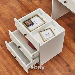 Chest of Drawers Dressing Table 2 in 1 Mirror Stool and Drawer Make up Desk UK