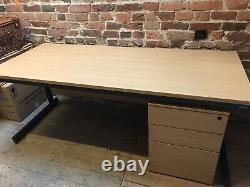 Commercial Office Desk and Chest of Drawers