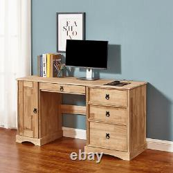 Corona Computer Table Dressing Table Study Desk 3 4 Drawer Chest Mexican Pine