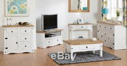 Corona Furniture White Chest Bedside, Wardrobe, Dresser, Table, Chairs, Stool, TV Unit