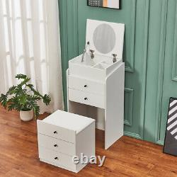 Dressing Table Chest of Drawer 2 in 1 Writing Make Up Desk Flip up Mirror Vanity