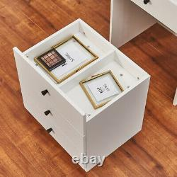 Dressing Table Chest of Drawer Writing Make Up Desk Flip up Mirror Vanity NEW