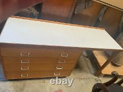 Ex military Mid century dressing chest desk 2 over 3 drawers UE140821F