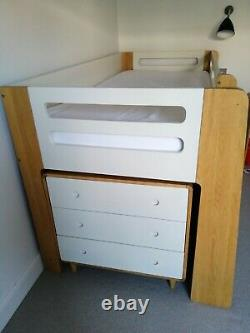 Feather And Black Cabin Bed & Chest of Drawers, Shelves, Desk & Chair
