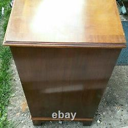 Four Drawers Flame Mahogany Chest Of Drawers Pullout Writing Desk 76cm X 43cm +p