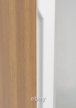Fully Assembled Quality Tall Wide Chest Drawers Draws Handless Gloss White & Oak