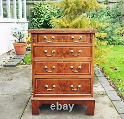 Gorgeous Yew Batchelors Small Chest Drawers Writing Desk Bevan Funnell Reprodux