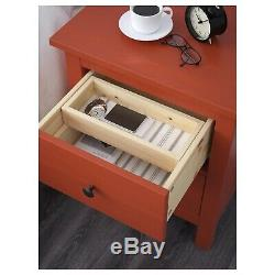 IKEA 2-drawer chest, red-brown21 1/4x26