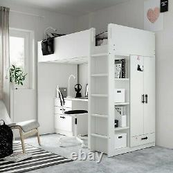 Ikea Desk Bed With Built In Wardrobe And Chest Of Drawers 2yrs excellent cond