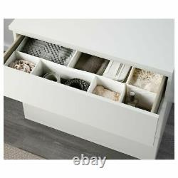 Ikea MALM Chest Of 3 Drawers Dressing Table Desk Office Home Room Study Drawer