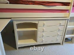 Julian Bowen kids mid sleeper bed with desk, cupboard, bookcase, chest of drawer