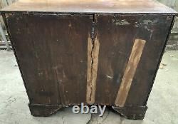 Large Antique Wooden Chest Of Drawers. Georgian. 1790. With Extendable Desk