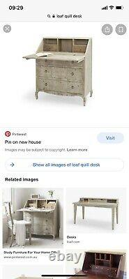 Loaf Quill Bureau Desk And Chest Of Drawers Storage Furniture Shabby Chic French
