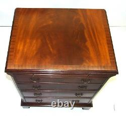 Mahogany Bachelors Chest of Drawers Desk with Brush Slide ANTIQUE STYLE (09)