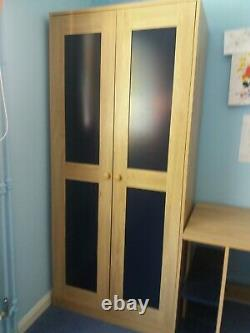 Mid sleeper Bed with Desk, Chest of Drawers & Wardrobe
