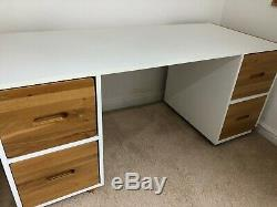 Mid sleeper kids bed including mattress with desk and chest of drawers stompa