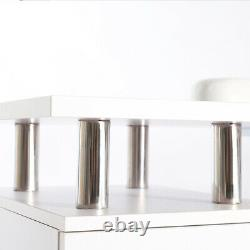 Mobile Manicure Nail Table Beauty Salon Technician Work Desk with 8 Chest Drawers