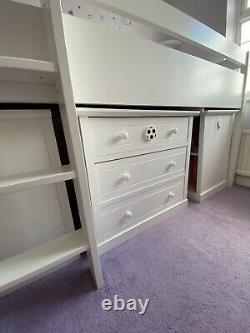 Next Midi Sleeper Cabin Bed, Desk, Chest of Drawers and Wardrobe With Mattress