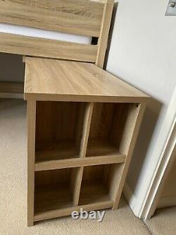 Next Single Cabin Bed, Desk, Chest of Drawers and Storage Unit With Mattress