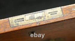 Original 1890 Army & Navy C. S. L Stamped Campaign Chest Of Drawers Including Desk