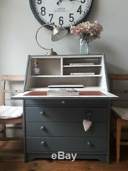 Painted Pine Bureau/study/computer desk /workstation/chest of drawers