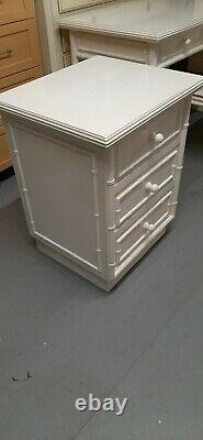 Quality faux bamboo Chinese Chippendale Bedside Table/Chest of drawers