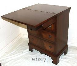 REPRODUX BEVAN FUNNELL Mahogany Bachelors Chest of Drawers Desk ANTIQUE STYLE