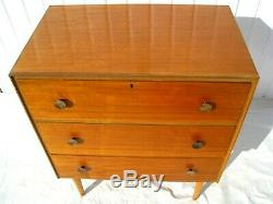 ROBERT HERITAGE CHEST OF DRAWERS DESK BUREAU STUNNING VINTAGE RETRO UTILITY 50s